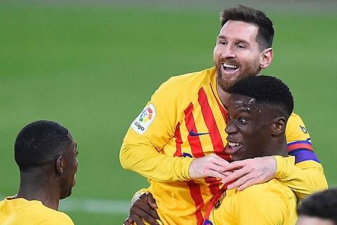 स्पेनिस लिगय् बार्सिलोना विजयी