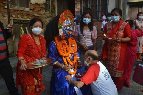श्री हल्चोक आकाश भैरव, नेवाःतय् सवः द्यः